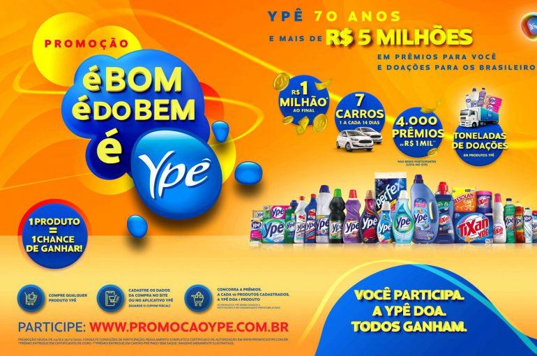 Ypê lança promoção 'É Bom. É do Bem. É Ypê'