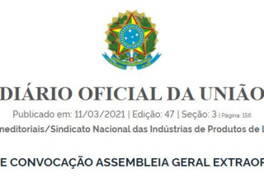 SIPLA: Convocação para Assembleia Geral Extraordinária 29/3