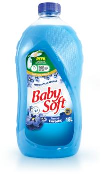 Amaciante Baby Soft Diluído anuncia embalagem de 1,8L 100% reciclável